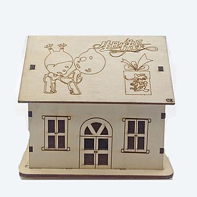 moda criativa pequena casa de madeira decoração da luz modelo noite luz presente de aniversário luz de Natal casa valentine