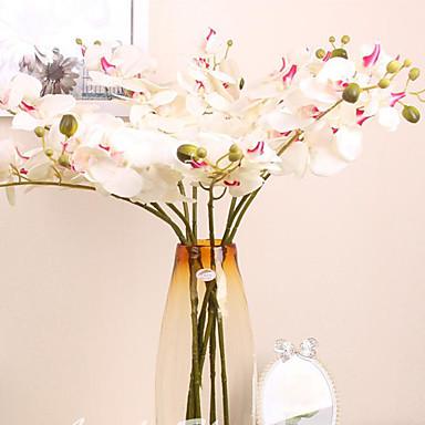 1 Afdeling Polyester Plastik Andre Bordblomst Kunstige blomster