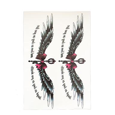 1 Tatuointitarrat Toteemisarja Non Toxic / Kuvio / Alaselkä / WaterproofNaisten / Aikuinen Flash Tattoo väliaikaiset tatuoinnit