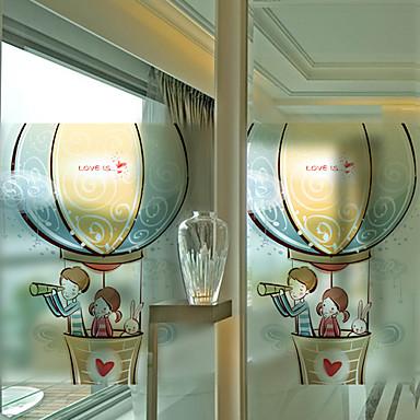 Art Deco Moderne Fensterfolie, PVC/Vinyl Stoff Fensterdekoration Esszimmer Schlafzimmer Büro Kinderzimmer Wohnzimmer Badezimmer Shop /