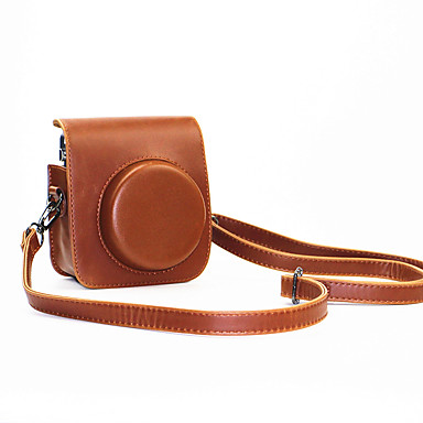 pu læder mini kamerataske til Fujifilm instax mini 70 med aftagelig skulderrem