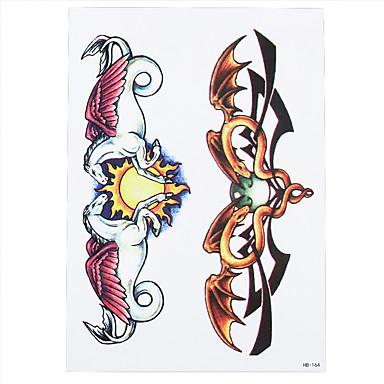 Tatuointitarrat Toteemisarja Non Toxic Kuvio Alaselkä WaterproofNaisten Miesten Aikuinen Flash Tattoo väliaikaiset tatuoinnit