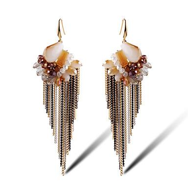 Earring Flower Shape Smykker Dame Dusker Daglig Legering / Gullbelagt / Glass 1 par Brun