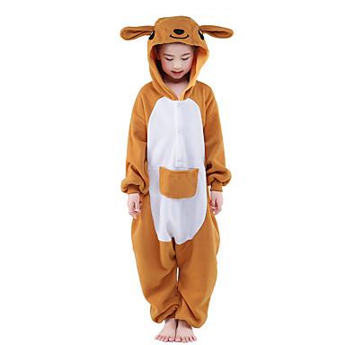 Pyžama Kigurumi Klokan Pyžamo Onesie Kostým Velvet Mink Oranžová Cosplay Pro Dětské Animal Sleepwear Karikatura Halloween Festival /