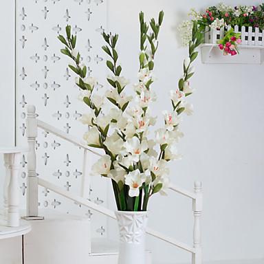 Flores Artificiales 1pcs Rama Estilo Pastoral Orquídea Flor de Mesa