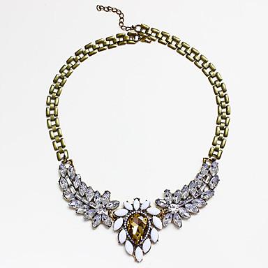Naisten Riipus-kaulakorut jäljitelmä Diamond Metalliseos Muoti Kultainen Korut Varten Häät Party 1kpl