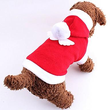 Kat Hond kostuums Hoodies Hondenkleding Schattig Cosplay Kerstmis Nieuwjaar Effen Rood Roze