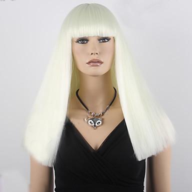 Synthetische Haare Perücken Gerade Kappenlos Cosplay Perücke Medium