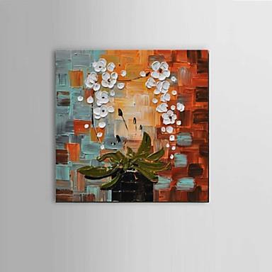 Handgeschilderde Abstract / Stilleven / Fantasie / Bloemenmotief/Botanisch Olie schilderijen,Modern / Klassiek / Pastoraal / Europese