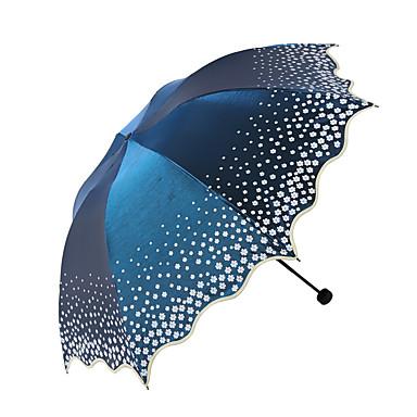 Udvalgte Farver Sammenfoldet paraply Solparaply solrig og regnfuld Regn Metal tekstil Klapvogn børn Rejse Dame Herre Bil