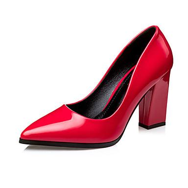 Dame Sko PU Sommer Sandaler Kraftige Hæle Lilla / Rød / Hudfarve