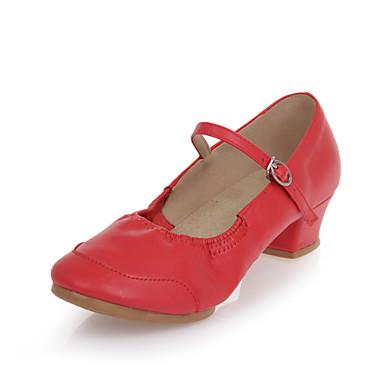 Dansesko(Sort Pink Rød) -Kan ikke tilpasses-Kraftige Hæle-Damer-Dansesko Moderne
