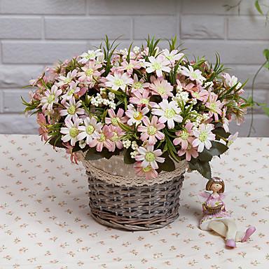 1pc 1 Afdeling Polyester / Plastik Tusindfryd Bordblomst Kunstige blomster 11.8inch/30CM