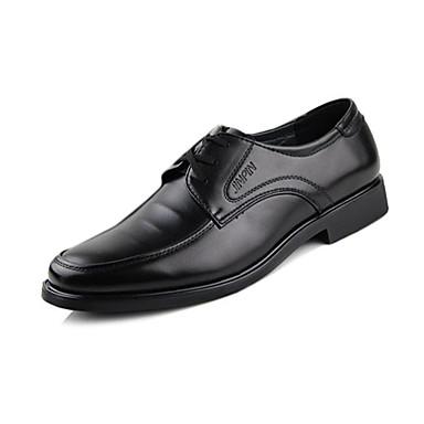 Miehet Oxford-kengät Comfort Tekonahka Kevät Syksy Kausaliteetti Kävely Comfort Solmittavat Tasapohja Musta Tasapohja