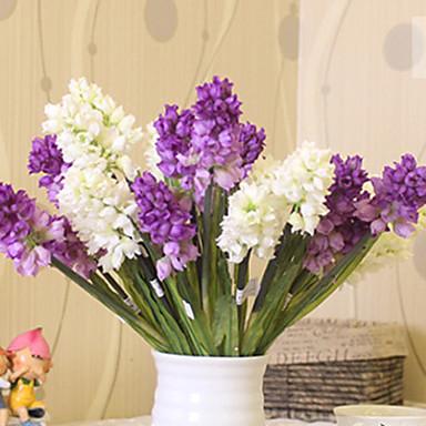 1 1 Afdeling Polyester / Plastik Hyacinth Bordblomst Kunstige blomster 14.9inch/38cm