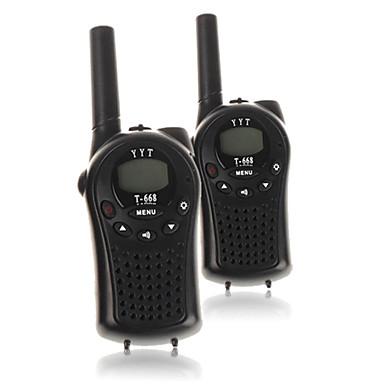 T668446 Funkgerät Tragbar Batterie-Warnanzeige / VOX / Verschlüsselung 3 km -5km 3 km -5km 22 Channels AA alkaline battery 0.5W Walkie Talkie Zweiwegradio
