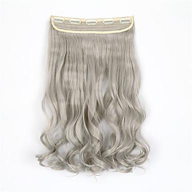 5clips hitzebeständige Faser synthetische Clip in Haarverlängerungen mehr Farbe Frauen Zubehör wellige Haarteil