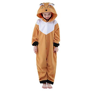 Kigurumi-pysjamas Rev Onesie-pysjamas Kostume Polar Fleece Brun Cosplay Til Barne Pysjamas med dyremotiv Tegnefilm Halloween Festival /