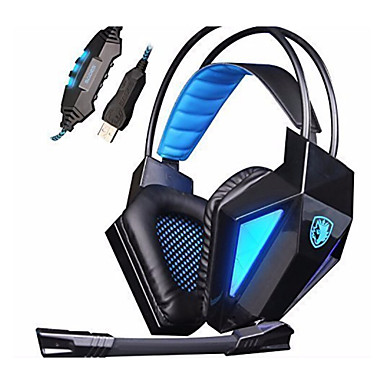 SADES SA-710 Over øre Pandebånd Ledning Hovedtelefoner Dynamisk Gaming øretelefonStøj-isolering Med Mikrofon Med volumenkontrol
