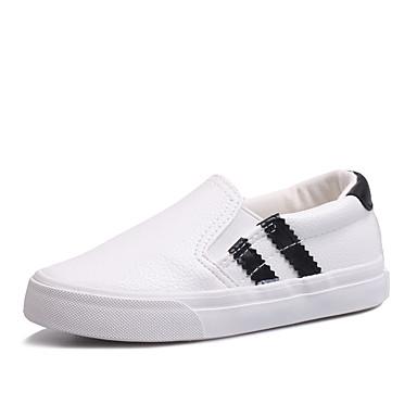 Fladsko / Loafers og Slip-ons-PU-Komfort / Rund tå / Fladsko-Piger-Sort / Rød / Hvid-Udendørs / Hverdag / Sport-Flad hæl