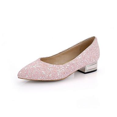 Hæle-Glitter-Spids tå / Lukket tå-Dame-Rosa / Lilla-Hverdag-Lav hæl