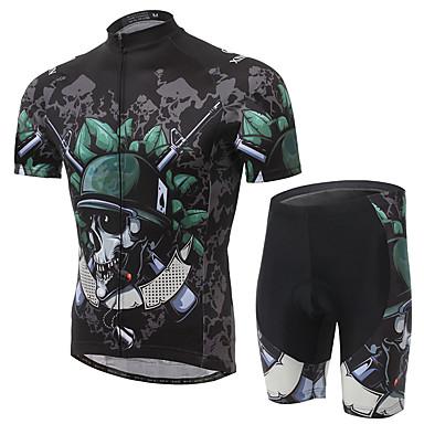 Camisa com Shorts para Ciclismo Homens Manga Curta Moto Conjuntos de Roupas Secagem Rápida Respirável Confortável Terylene Grade LYCRA®