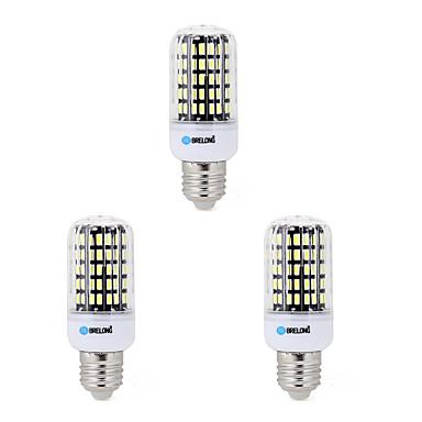 BRELONG® 3pcs 7W 650lm E14 E26 / E27 B22 LED-kornpærer B 108 LED perler SMD 5733 Dekorativ Varm hvit Kjølig hvit 200-240V 220-240V