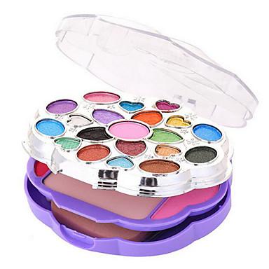 28 Foundation+Øjenskygger+Lipglosses+Spejl Pulver Puff/Skønhedsblender Makeupbørster Tør Våd Ansigt Øjne Læber Farvet glans Concealer Kina