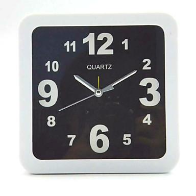 (Farvemønster er tilfældig) firkantet og rundt og sort og hvid simple vækkeur student desktop bord ur