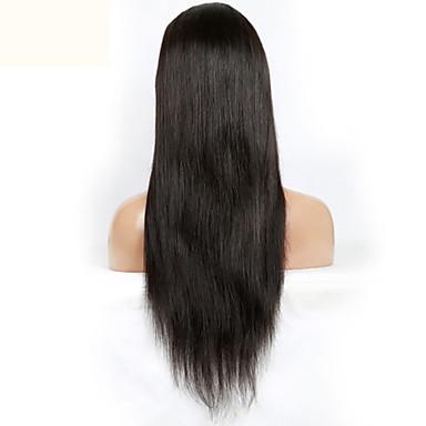 silkkinen suora 130% tiheys neitsyt Brasilian hiuksista pitsi edessä peruukki kanssa vauvan hiukset