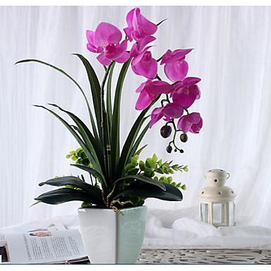 Polyester Bryllup Dekorationer-1piece / Set Kunstig blomst Nytår / Bryllup Klassisk tema Fuchsia Forår / Sommer / Efterår / Vinter