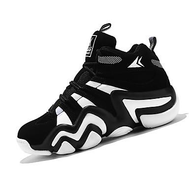Dame-PU-Flat hæl-Komfort-Sneakers-Fritid-Svart og Rød / Svart og Hvit