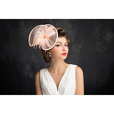 フラメンコフェザーネットの魅力的なヘッドピースクラシックな女性的なスタイル