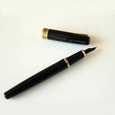 Pen Pen Vulpennen Pen,Metalen Vat Zwart Inktkleuren For Schoolspullen Kantoor artikelen Pakje