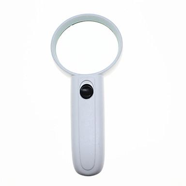Forstørrelsesglas Generelt Brug / Læsning Generisk / Høj definition / Håndholdt / LED 5X 50mm Normal Plastik