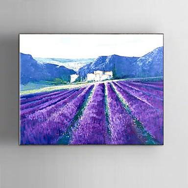 Hånd-malede Landskab / Abstrakt Landskab / Fantasi Oliemalerier,Parfumeret / Europæisk Stil / Moderne / Klassisk Et Panel Canvas