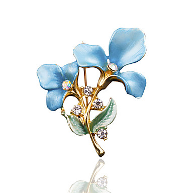 en bit / blå / lilla / guld / pink / brunbrooches klassisk feminin stil