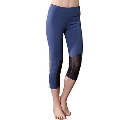 calças de yoga Moletom Respirável Alta Respirabilidade (>15,001g) Compressão Confortável Natural Elasticidade Alta Moda EsportivaAzul