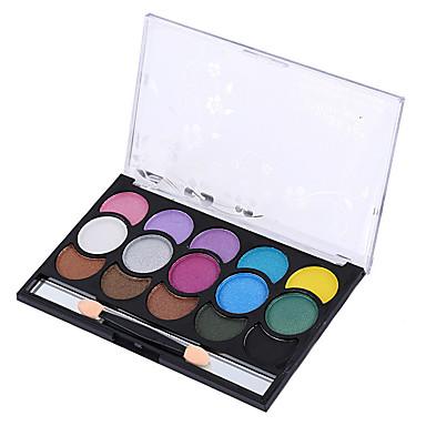 15 Paleta de Sombras Secos Paleta da sombra Pó Maquiagem para o Dia A Dia Maquiagem para Dias das Bruxas Maquiagem de Festa