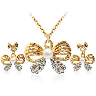 Damen Schmuck-Set - Einschließen Halskette / Ohrringe Gold Für Hochzeit Party Alltag Normal