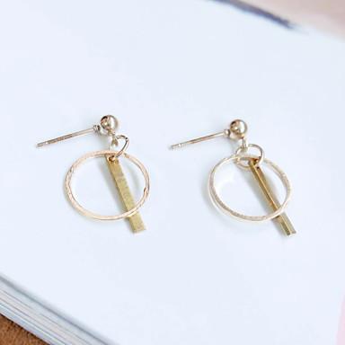 Druppel oorbellen Modieus Legering Cirkelvorm Goud Sieraden Voor Bruiloft Dagelijks Causaal 1 paar