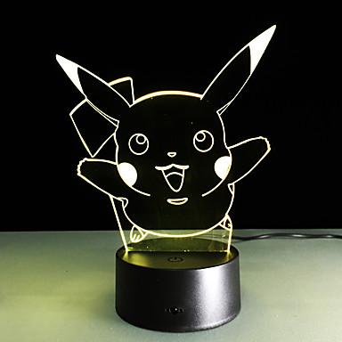 1 Pça. Luz noturna 3D USB Decorativa 5 V