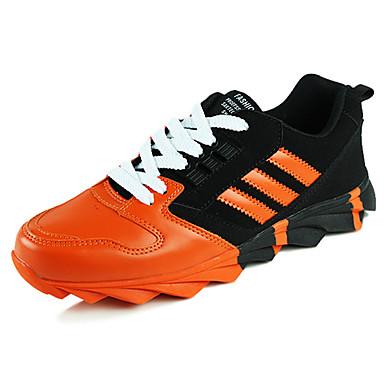 Sneakers-TylHerre-Sort Orange Sort og Hvid-Sport-Flad hæl