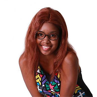 Menneskehår Helblonde Paryk Lige 130% Massefylde 100 % håndbundet Afro-amerikansk paryk Natural Hairline Kort Medium Lang Dame