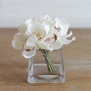 1 Tak Echt aanvoelend Orchideeën Bloemen voor op tafel Kunstbloemen