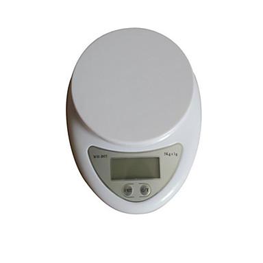 ultradunne keuken elektronische weegschaal (weegbereik: 5kg-1g, met schaal plaat)