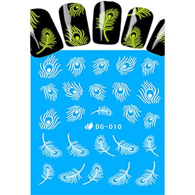 1 Vesi Siirto Tarra Kynsien korut Full Nail Tips Klassinen Cartoon Lovely Pimeässä hohtava Päivittäin Korkealaatuinen Nail Art Design