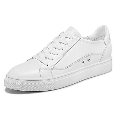 Sneakers-Syntetisk-Komfort-Dame-Sort Hvid-Fritid Sport-Flad hæl