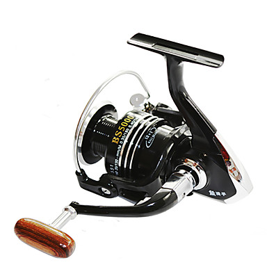 cheap Fishing Reels-Fishing Reel Spinning Reel 4.7:1 Gear Ratio+13 Ball Bearings Right-handed / Left-handed / Hand Orientation Exchangable Sea Fishing / Bait Casting / Ice Fishing - BSLGH7000 / Jigging Fishing