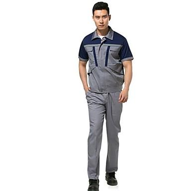 reflecterende pak mannen en vrouwen met korte mouwen werkkleding (blauwe verkoop schouder grijs, 180)